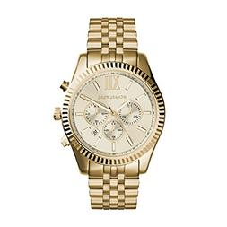 Michael Kors Lexington Gold-Tone Stainless Steel Watch MK828