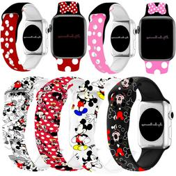 Mickey Mouse Silicone Minnie  Band Strap For iWatch Apple Se