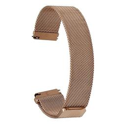 TRUMiRR 20mm Milanese Loop Watch Band Magnetic Buckle Strap