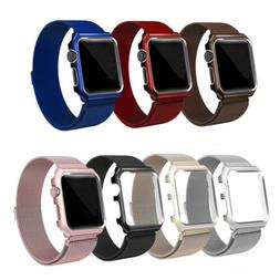 Milanese Stainless Steel Watch Band Strap + Case For Apple W