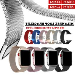 Milanese Stainless Steel Watch Band Strap For Apple Watch Se