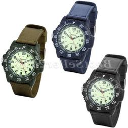 Military Army Tactical Mens Luminous Watches Nylon Band Spor