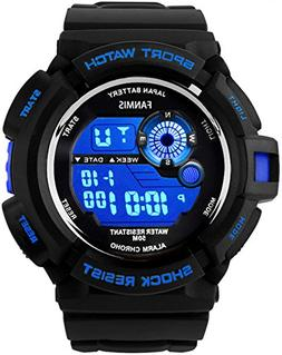 Fanmis Mens Military Multifunction Digital LED Watch Electro