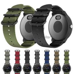 Military Woven Nylon Watch Band Strap with Metal Buckle For