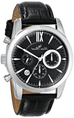 Lucien Piccard Mulhacen Chronograph Black Genuine Leather an