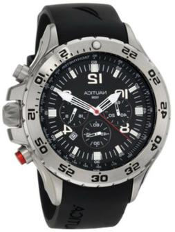 Nautica Men's N14536 NST Stainless Steel Watch with Black Re