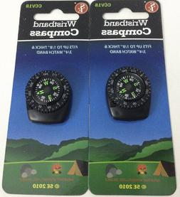 2 Pc Navigation Compasses Wristband Watch Band Clip-On