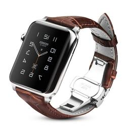 For iWatch Apple Watch Series 5 / 4 44mm Genuine Leather Ban