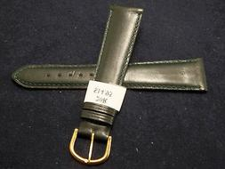 New Mens Made in France Green Genuine Leather 20mm Watch Ban