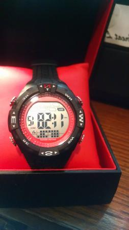 NEW Armitron Pro Sport Men's Watch 40/8413, Red and Black, R
