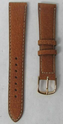 NEW SEIKO TAN BROWN STITCHED LEATHER 18mm WATCH STRAP