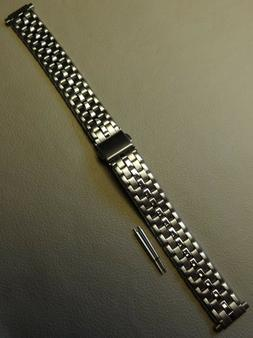 New Womens Speidel Stainless Steel Push Button Clasp Trifold