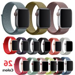 New Woven Nylon Loop Strap Watch Band For Apple Watch series