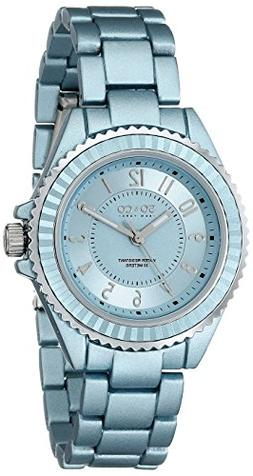 SO&CO New York Women's 5036.1 SoHo Quartz Light Blue Alloy L