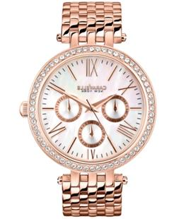 Caravelle New York by Bulova Women's Rose Gold-Tone Stainles