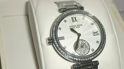 Anne Klein NY 12/2309SVSV Women's 35mm Silver Tone Crystal