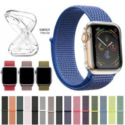 Nylon Band Strap+Case Sport Loop for Apple Watch Series 5 4