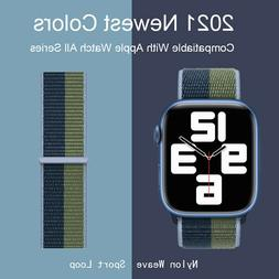 Nylon Sport Loop iWatch Band For Apple Watch Series 7-1 SE 3
