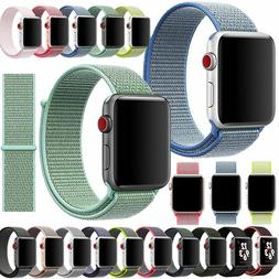 Nylon Woven Sport Loop Bracelet Watch Band Strap For Apple i