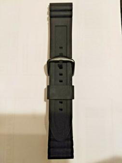 Fossil OEM Men's S221304 All Black Silicone 22mm Watch Strap