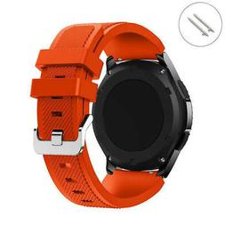 Orange 22 mm Rubber Silicone Replacement Watch Band Strap Qu