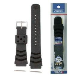 Seiko Original Rubber Curved Line Watch Band 22mm Divers Mod