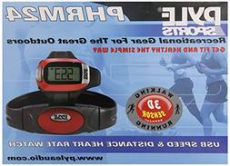 Pyle Sports PHRM24 Speed and Distance Heart Rate Watch with