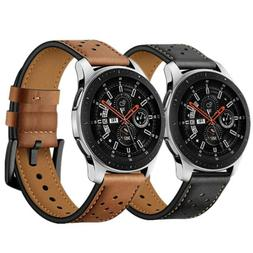Premium Genuine Leather Watch Band Strap For Samsung Galaxy