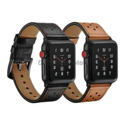 Premium Genuine Leather Watch Band Strap For Apple Watch Ser