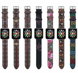 Premium Leather Watch Band for Apple Watch GG Design Various