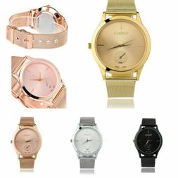 Quartz Watches Womens Luxury Stainless Steel Strap Band Anal