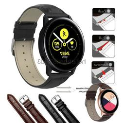 Quick Fit Crocodile Leather Watch Band Strap For Samsung Gal