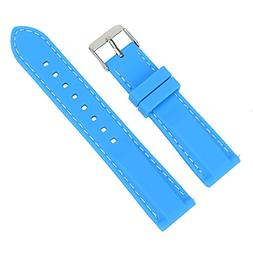 Xuexy 18mm Quick Release Pin Silicone Rubber Watch Band for