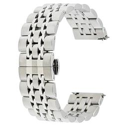 TRUMiRR 22mm Quick Release Watch Band Stainless Steel Butter