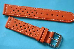 Racing Watch Band Orange 18 20 0 7/8in with Small Fastener 7