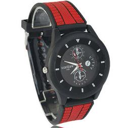 red tyre silicone band black new sports