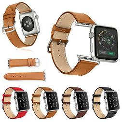 Replacement Genuine Leather Watch Strap Band for Apple Watch