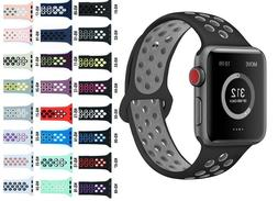 Replacement Silicone Sport Band Strap 38mm 42mm For Nike+ Ap