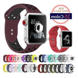 Replacement Silicone Sport Watch Band Strap For Apple Watch