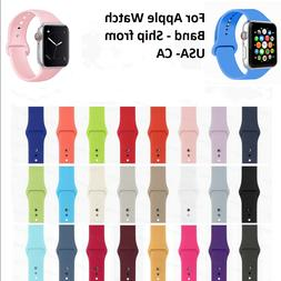 Replacement Silicone Sports Band Strap For Apple Watch Serie