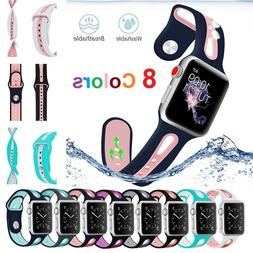 Replacement Soft Silicone Strap Sports Band For App Watch iW
