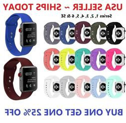 Silicone Strap Band for Apple Watch Sports Series 6 5 4 3 2