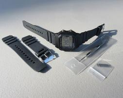 Replacement Watch Band Strap for fits CASIO W800H-1AV & W201