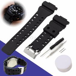 Replacement Watch Strap Band W/Pins For G Shock 16mm GA-100