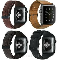 Retro Genuine Leather iWatch Band Men Casual Strap For Apple