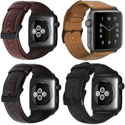 retro genuine leather iwatch band men casual