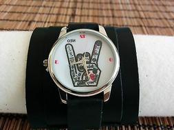 RoCK Bands Watch Leather wide band Women Men ROCK & ROLL COO