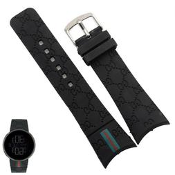 Rubber Black Replacement Watch Strap Band For  I-Gucci Digit