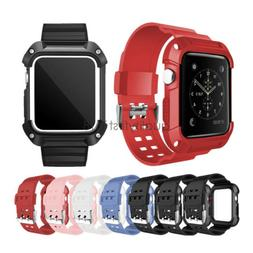 Rugged Protective Case Cover with Bracelet Watch Band For Ap