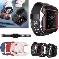e611ca1d5f9 Sport Silicon Apple Watch Band Series 4 ... By Unbranded. USD  10.66. Rugged  Protective Case Cover with Wrist Band Straps For Appl